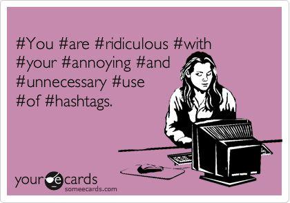 #Hashtag: #pro, #contro e #abuso