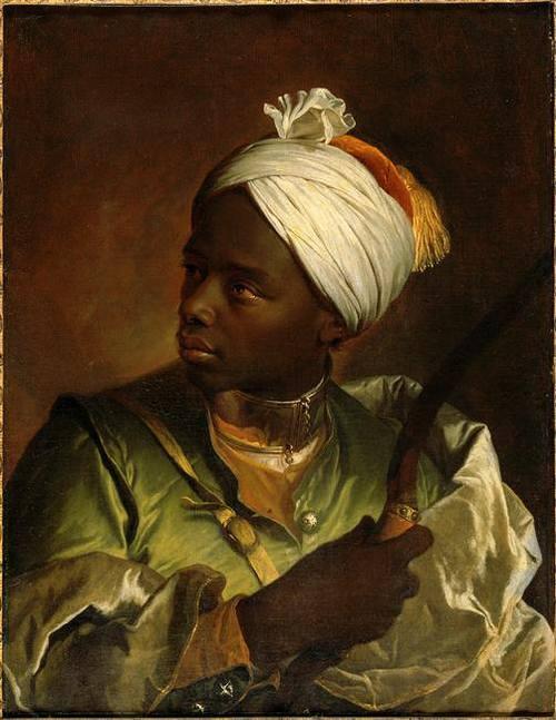 """""""Portrait de Jeune Noir avec Arc"""". by Hyacinthe Rigaud"""