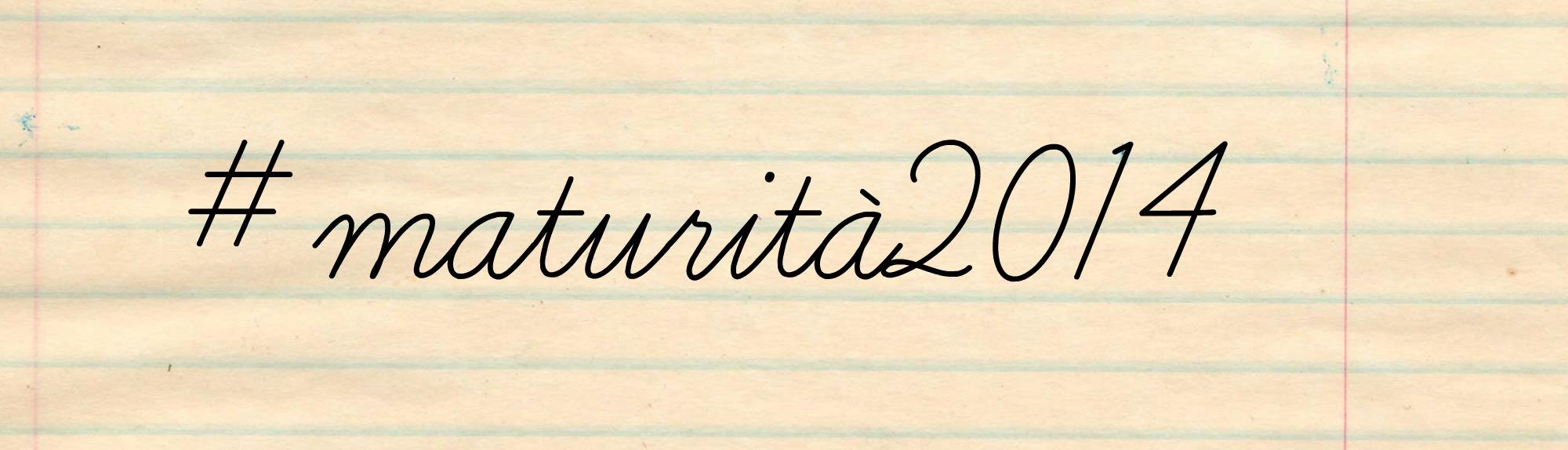 hashtag #maturità2014