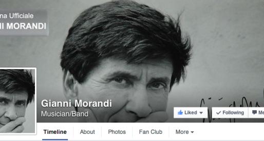 Il mio social media guru è Gianni Morandi