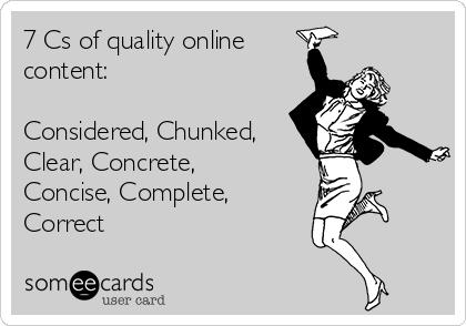 7 Cs of quality online content