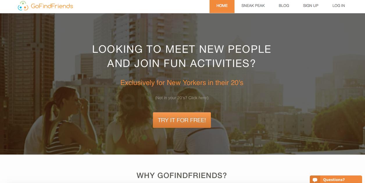 go find friends website